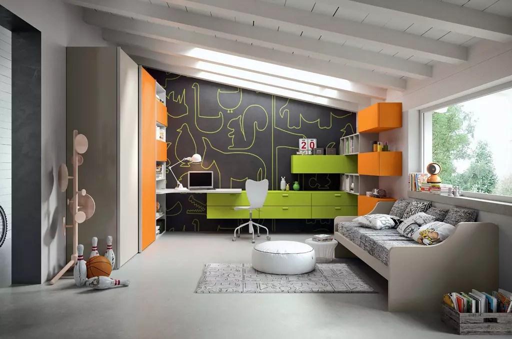 Cameretta Colore Verde E Arancio Sar Seveso