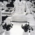 headstone marble Jesus Mary and Joseph headstone