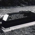 black granite full grave tomb stone