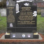 family memorial granite gravestone