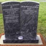 grey double headstone