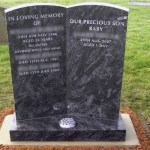 grey double headstone