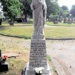 Sacred heart statue memorial after repair