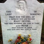 white marble gravestone looking as good as new after 50 years