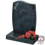 etched and shaped feminine grave stone