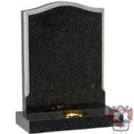 grey and black shaped two tone memorial