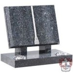 .Blue pearl granite open book