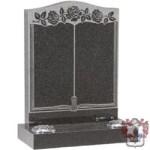 engraved book ornamental headstone