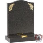 gold engraved black gravestone