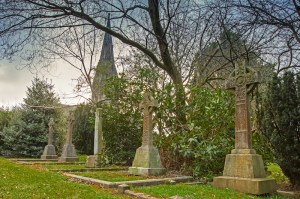 graveyard on summers day