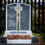 2 granite grey headstone