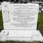 Headstone after repair