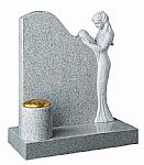 Elegant lady granite headstone