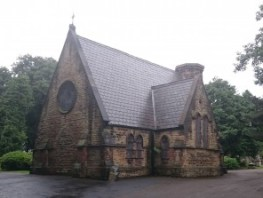 St Helens cemetery chapel