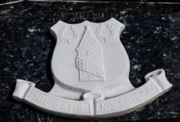 Headstone for Everton Fan