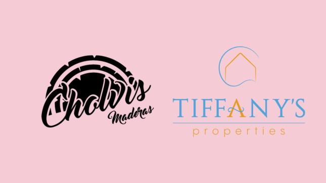 Diseño de logotipos en El Campello para Cholvis Maderas y Tiffany's Properties
