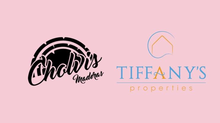Design de logotypes à El Campello pour Cholvis Maderas et Tiffany's Properties