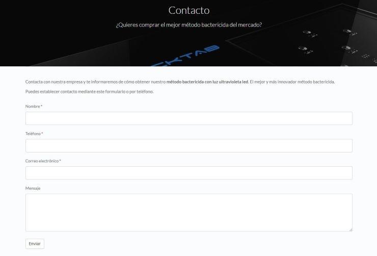 Diseño web para empresa de i+d+i - agencia de publicidad en Alicante, estudio de diseño gráfico y comunicación online corporativa