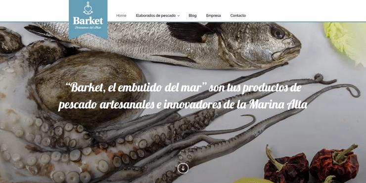 "Corporate web design à la Marina Alta pour AMMA - ""Barket, la saucisse de mer""."