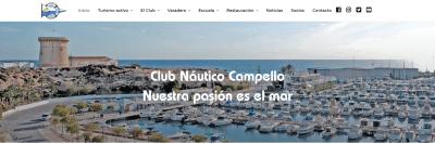 Diseño web para Club Náutico de El Campello