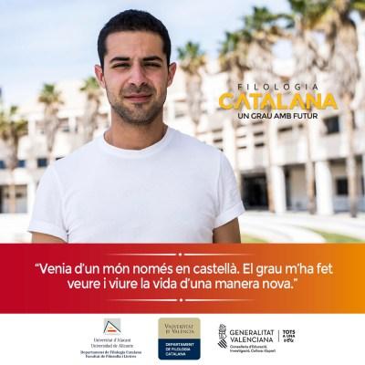Campaña publicitaria para universidad - Filología Catalana UA y UV Jesús Velasco
