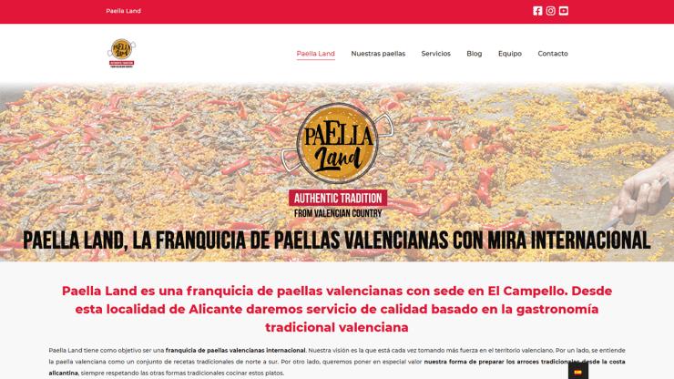 Diseño web para marca de paellas valencianas