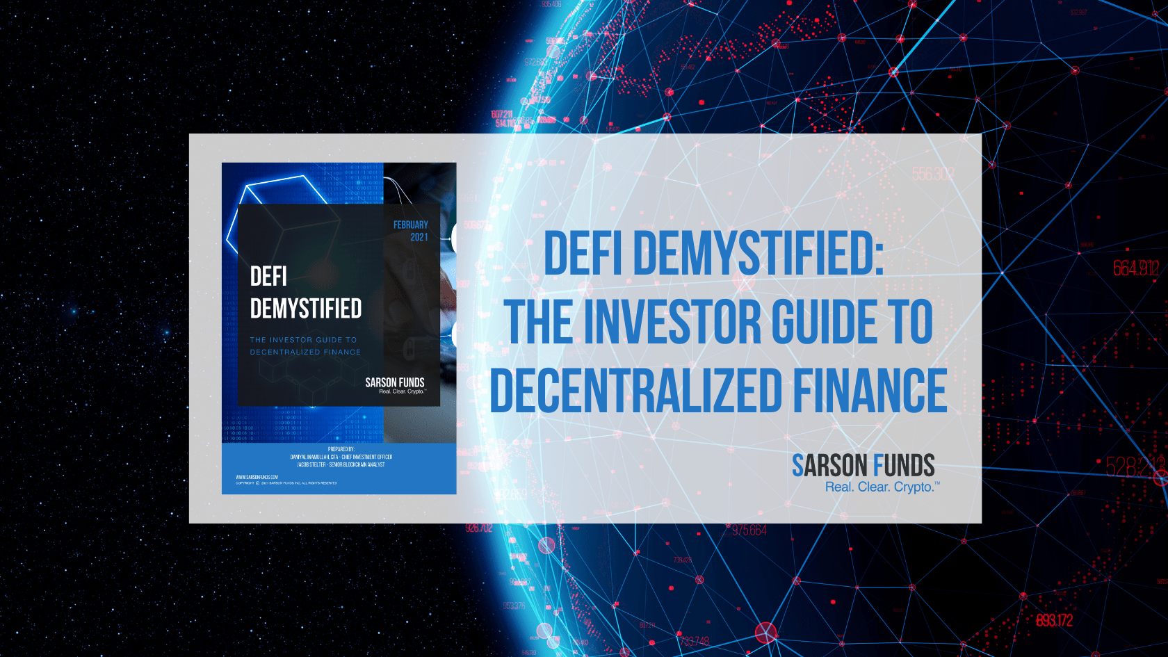 Investor Guide to DeFi: Sarson Funds Cryptocurrency Financial Advisor