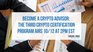 Crypto advisor certification program
