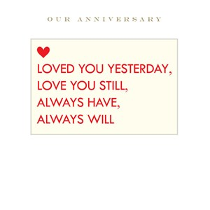 Anniversary / Love Cards
