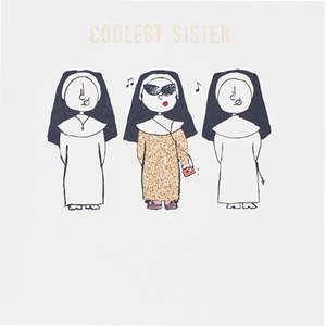 Susan O'Hanlon - Coolest Sister card - Sartorial Boutique and Gifts