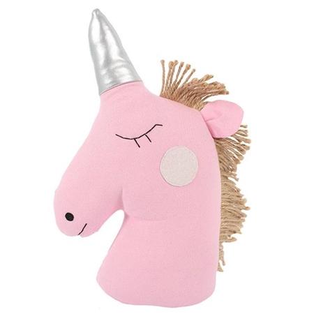 Pink unicorn doorstop