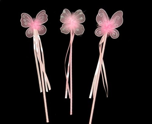 Pink Butterfly Fairy wand