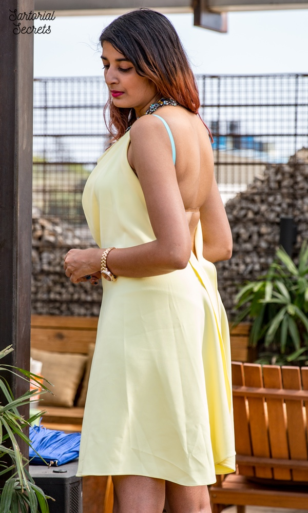Gauri & Nainika Koovs Dress, The Label Life Clutch Outfit of the Day