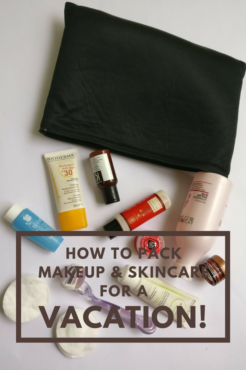 How to Pack Makeup & Skincare For A Vacation