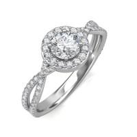 0.95 carat Platinum - Zara Engagement Ring - Engagement ...
