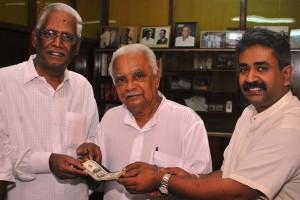 Dr. AT Ariyaratne, Mr. Mariappan and Professor Narayana Samy