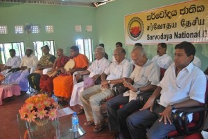 The guest and religious leaders