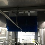 Laveuse de caisses grande cadence, construction en acier inoxydable - système de brossage