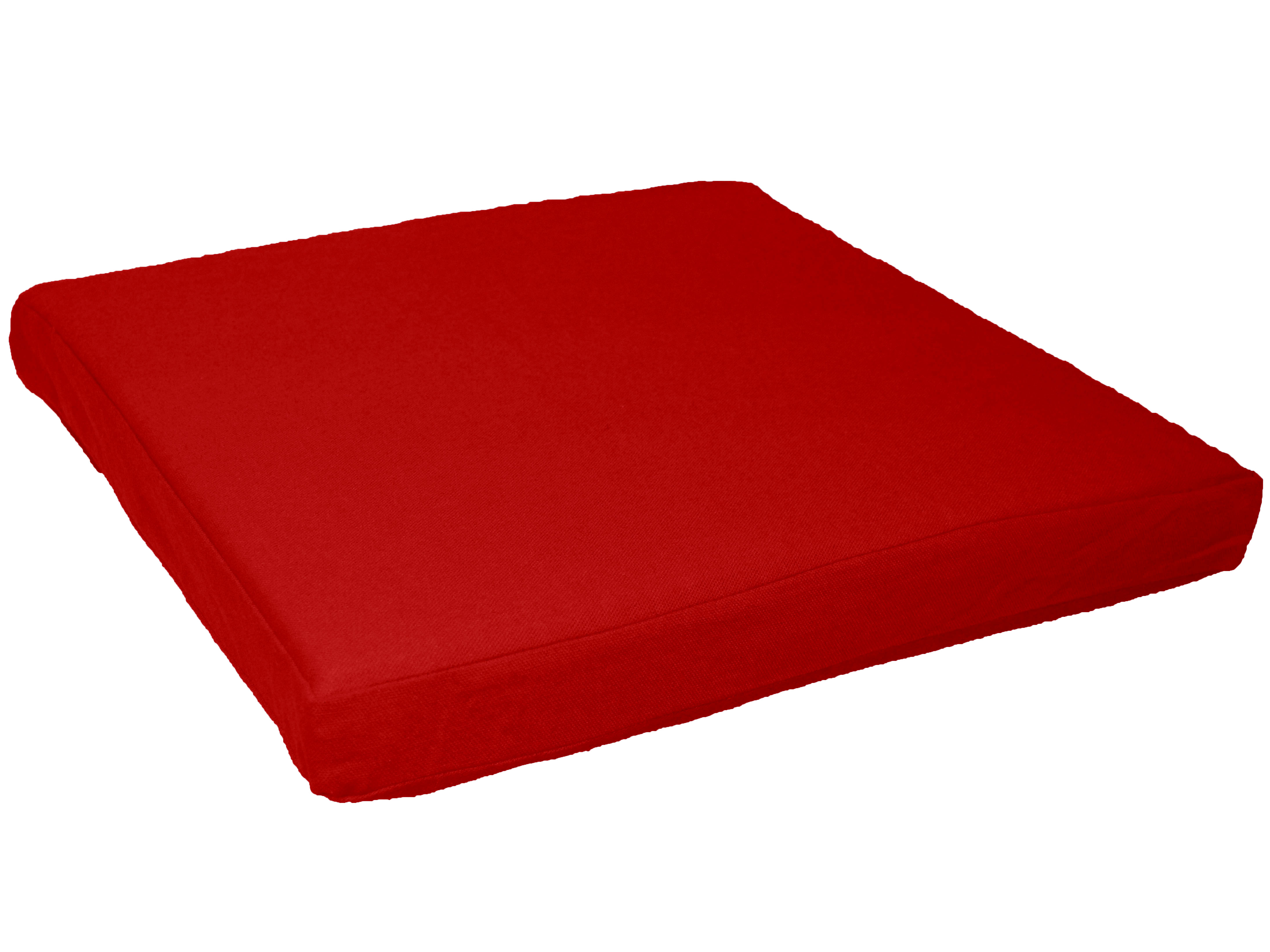 large square sofa cushions set online bangalore olx aa129t hot red cotton canvas 3d box seat