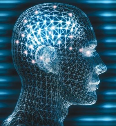 Skull electrodes blue