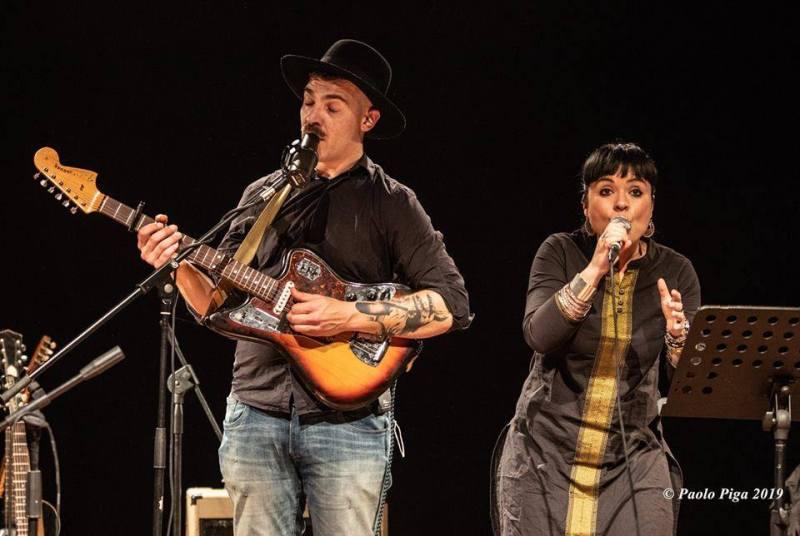 Matteo Leone e Claudia Aru - Mattep Lepne Live - Ex-Vetreria - Paolo Piga - 2019 - live report - Sa Scena Sarda