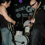 James Melillo, Robert C. Kelly, S.A. Sebastian. Performing with Atomic Brother in NYC. Photo by Shanna Franklin (http://shannafranklin.com).