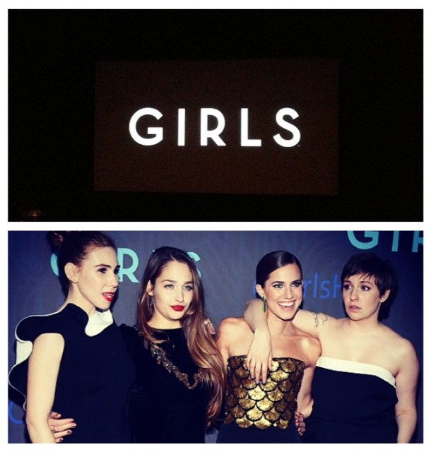 The GIRLS cast at this week's Season Two red carpet premier in NYC