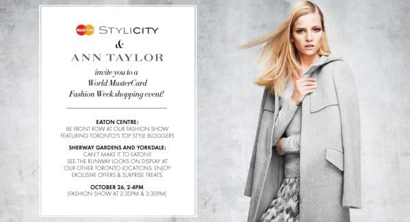 Mastercard Stylicity Ann Taylor Fashion Show Evite