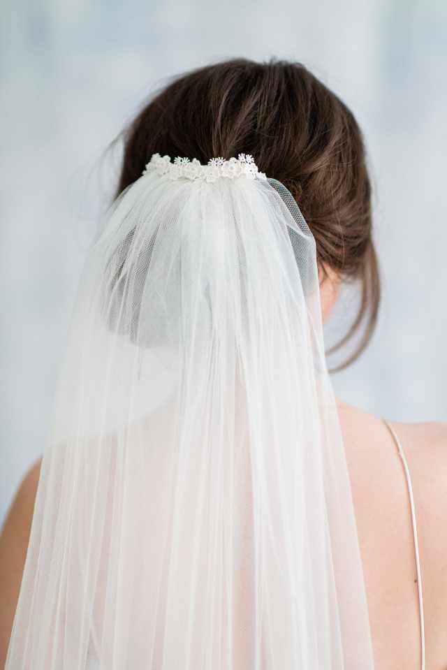 sephore single tier wedding veil