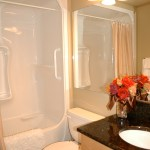 Your bathroom with shower and tub