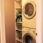 Your own full-size laundry right off your kitchen