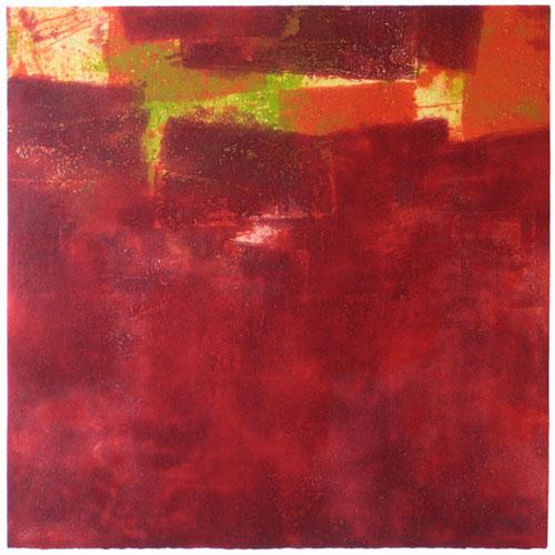 Rojo-verde   76 x 76 cm   edición 15 ejemplares + 1P.A.