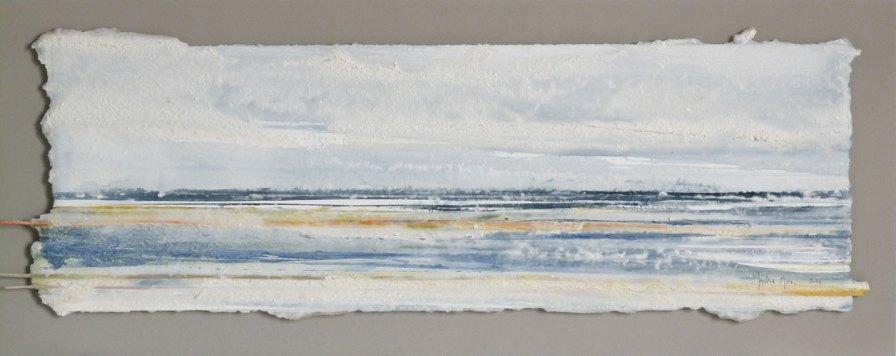 11 azul-amarillo | enmarcado, 25 x 65 cm