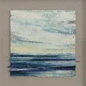 12 azul-azul | enmarcado, 52 x 52 cm